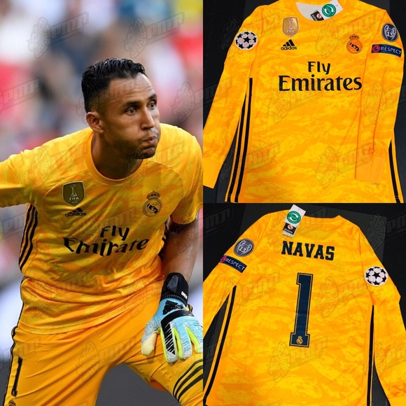 info for 7d783 a7c67 NAVAS #1 Real Madrid GK Goalkeeper Soccer Jersey NWT